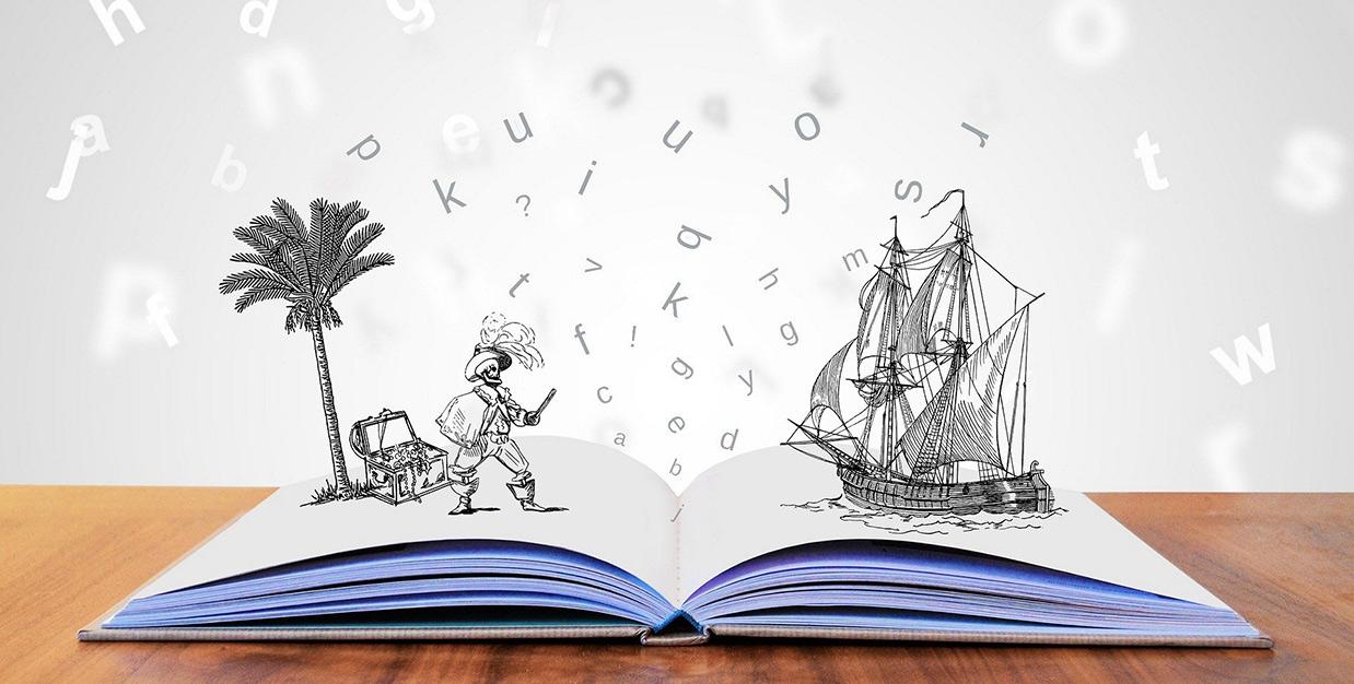 Bild Buch mit Abenteuern